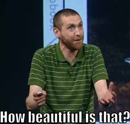 "Dave Gorman asks, ""How beautiful is that?"""