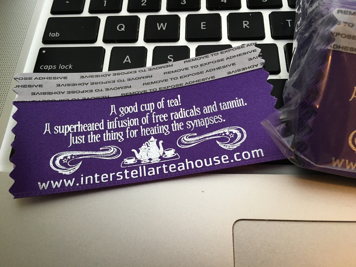 convention ribbons promoting this website